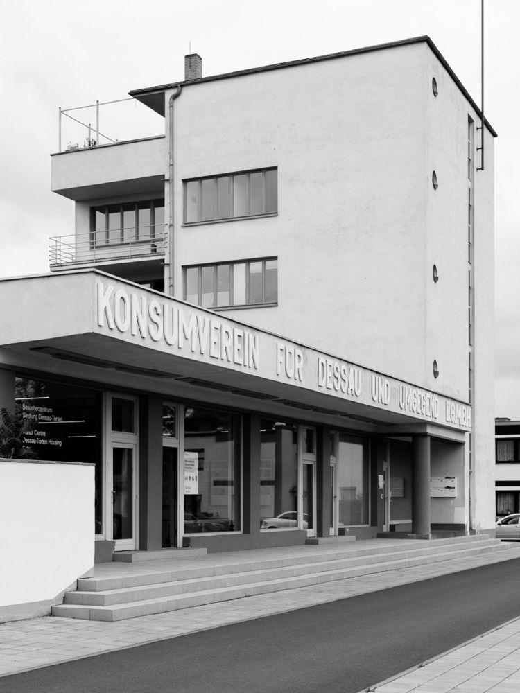 Siedlung Dessau Törten, Konsumg - chutsao | ello