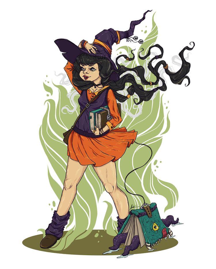 School - magic themed fantasy c - moondustowl | ello