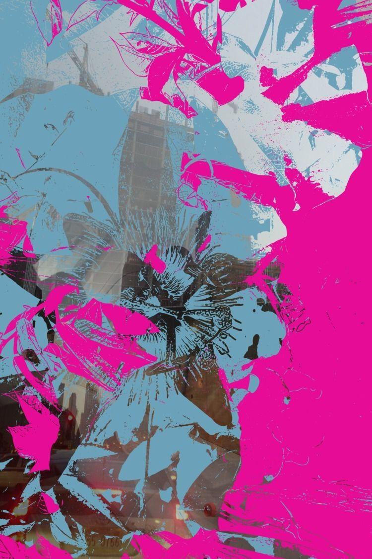 Cities - TwoCities, Blue, Pink, art - headplant | ello