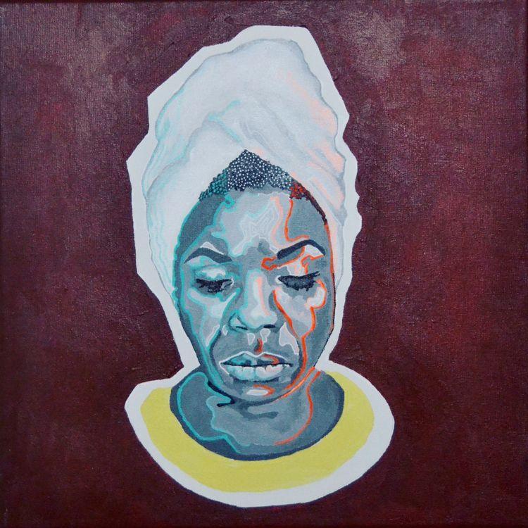 Nina Simone (Acrylic canvas - x0ffender | ello