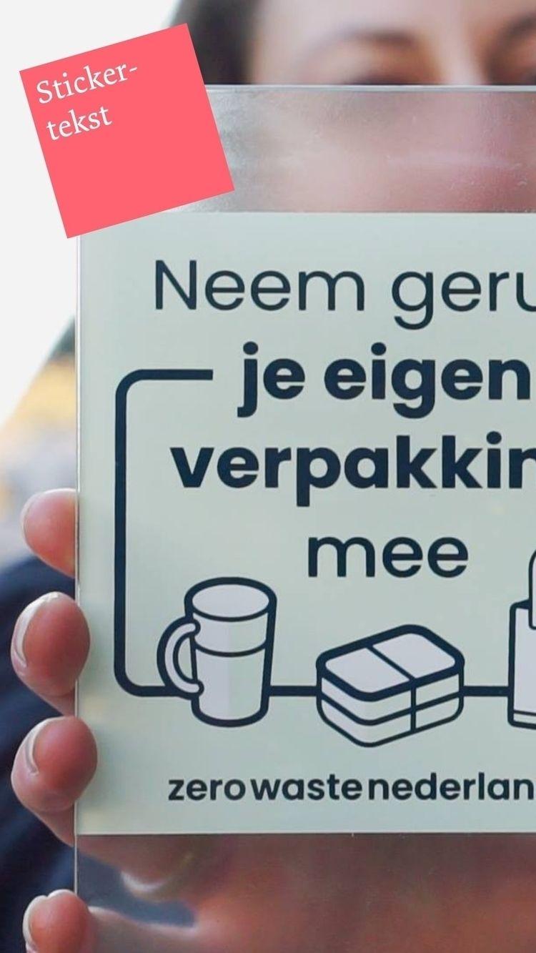 NL || Raamsticker voor de midde - otekst | ello