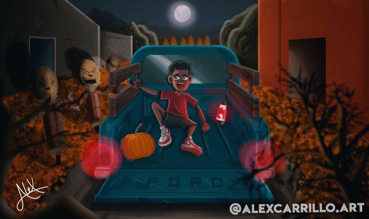 Autumn digital painting boy wea - alexcarrilloart   ello
