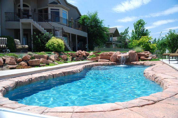 beautiful gunite inground pool - poolmarketing   ello