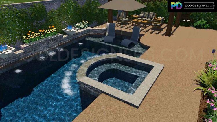 incredible 3d pool design backy - poolmarketing   ello