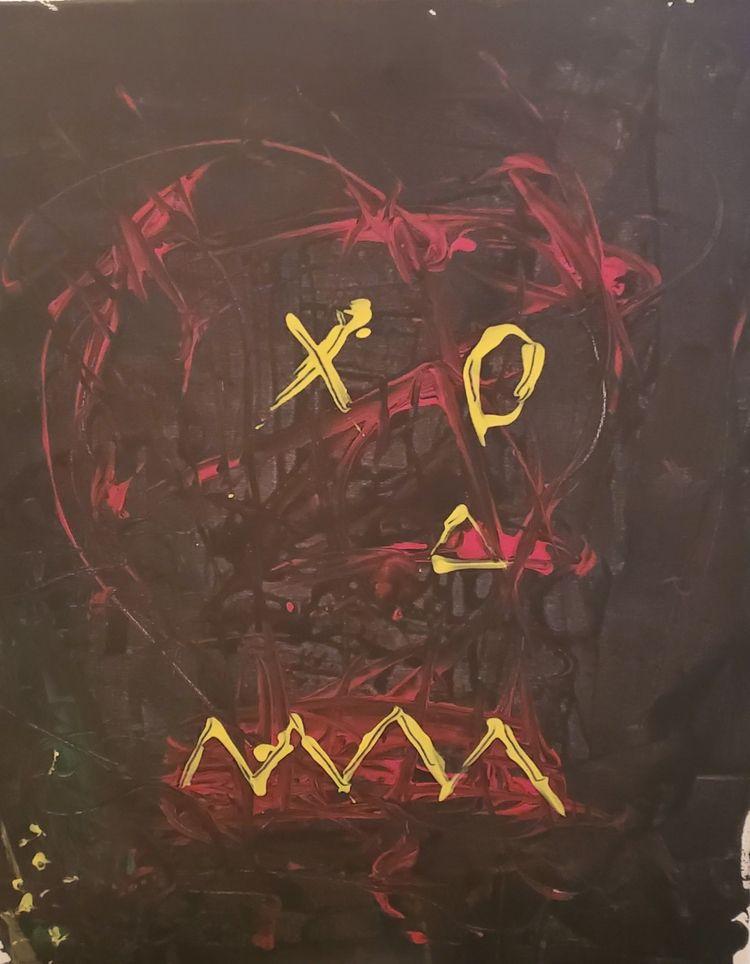 Boom (Basquiat inspired) 16 20  - toilz | ello