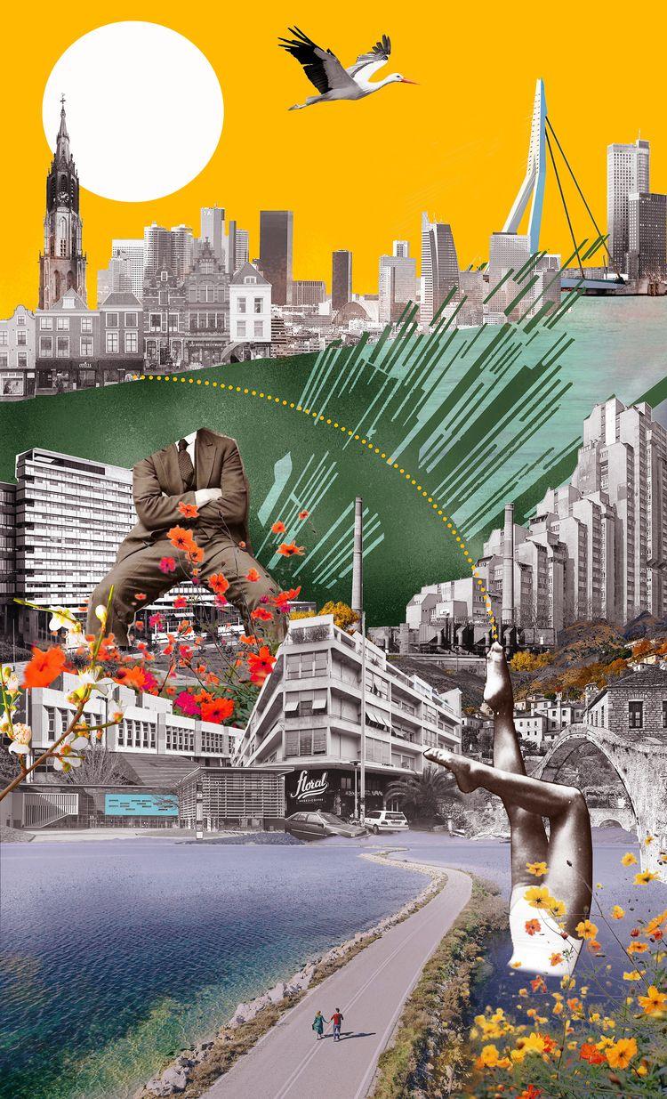 worlds, Collage lovestory - digitalcollage - nolongeroutside | ello