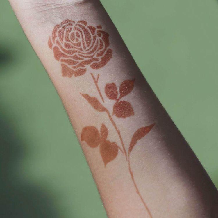 Rose Henna Flower Tattoo Create - mihenna | ello