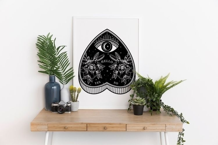 Halloween Ouija Print 🖤🥀 Instag - keyleygrahamdesigns   ello