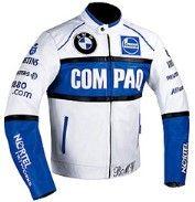 BMW COMPAQ Racing Motorbike Lea - leatherjacketsnyc   ello