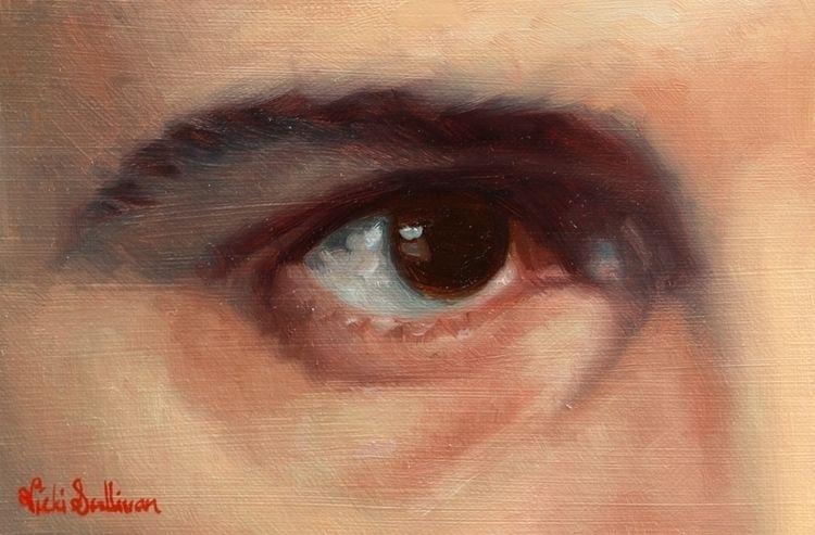 Sims Eye, 2020 Oil oil painting - vickisullivanart | ello
