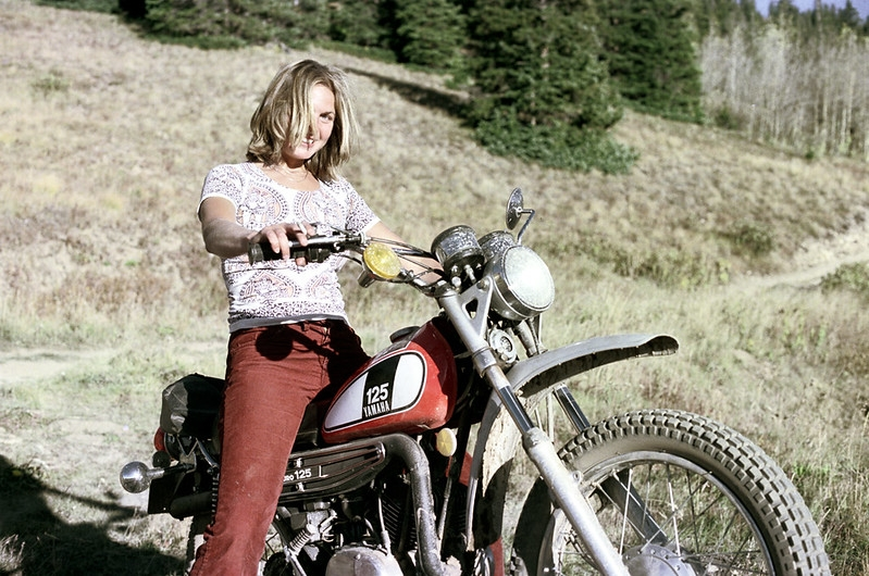 Aspen, Colorado 1975 Yamaha 125 - nickdewolfphotoarchive   ello