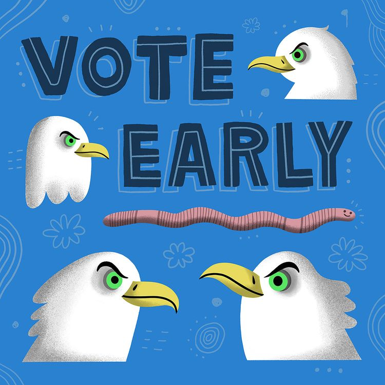 early bird VOTE EARLY - vote, illustration - rbubnis | ello