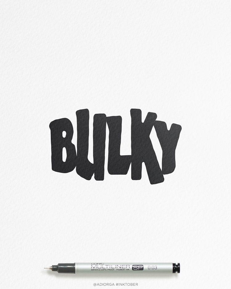   website behance 🦛 bit type  - bulky - adiorga   ello
