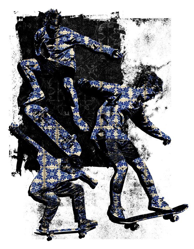 Skaters Tiles - design, skate, adobe - ferreiraricardo | ello