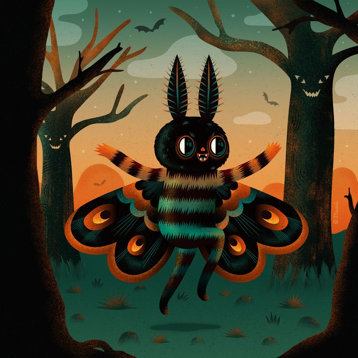 Mothman - halloween, creatures, digital - muxxi | ello