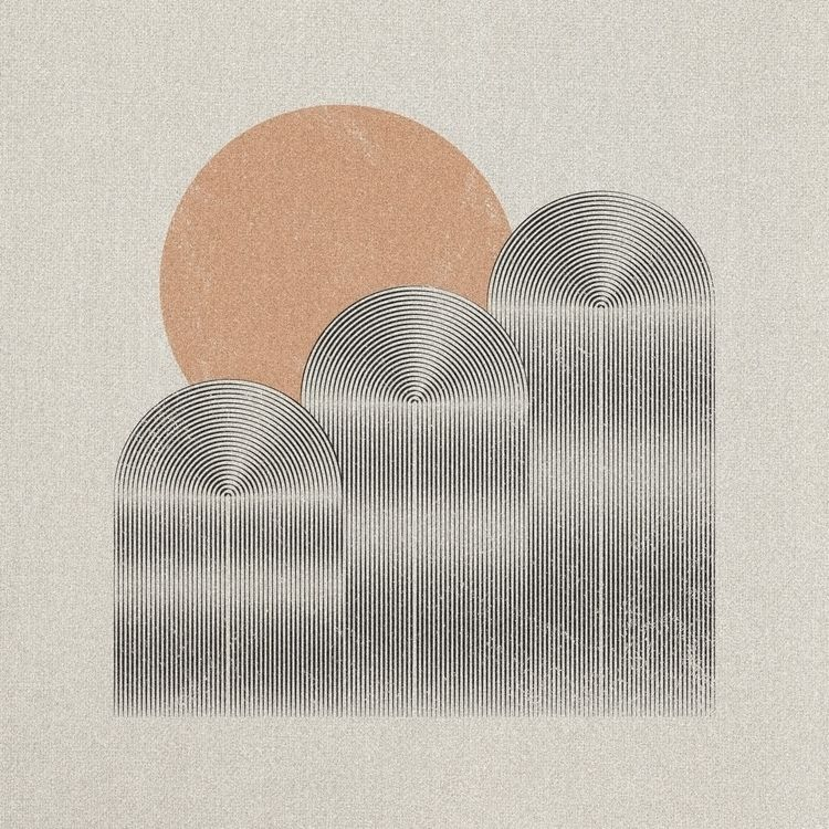 Hills - simple, lineart, illustration - jordnjames | ello
