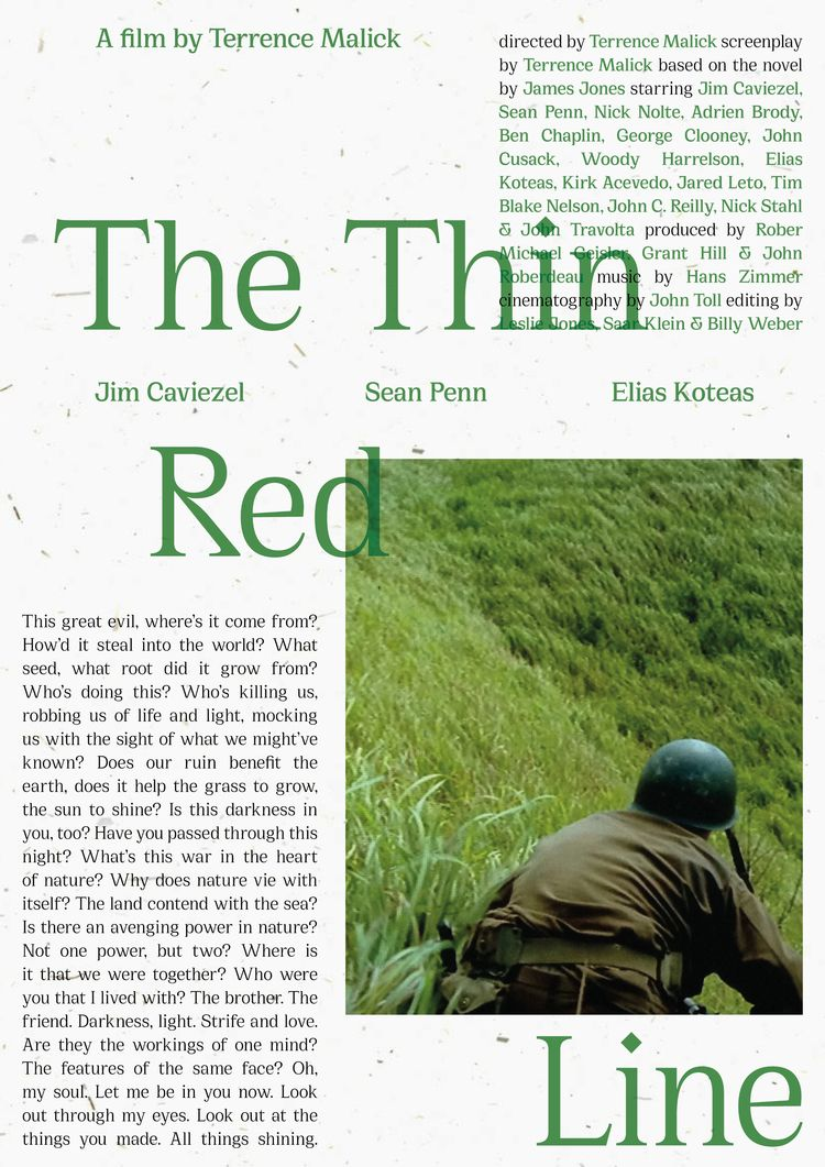 Film poster Thin Red Line (USA - sarahschrauwen | ello