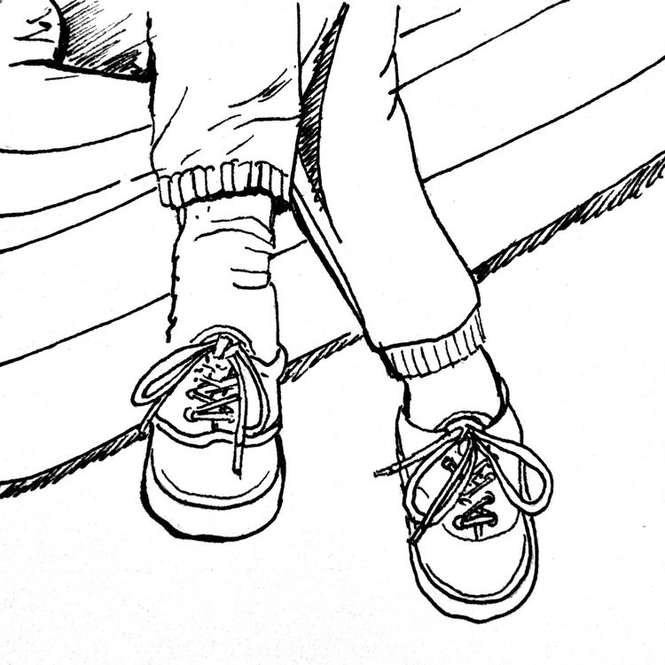 Legs/shoes/feet - illustration, dailydrawing - mikekronberger | ello