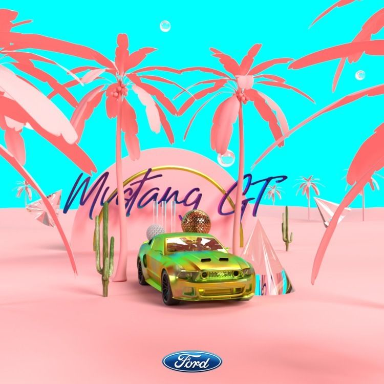 Ford Mustang GT - graphicdesign - kevsicle | ello