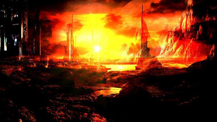 --> Fire planet Concept Art  - staffprodgraphicdesigner | ello