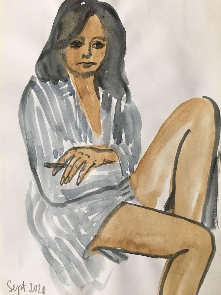 Stella. Sketch.Watercolor paper - chulanova | ello