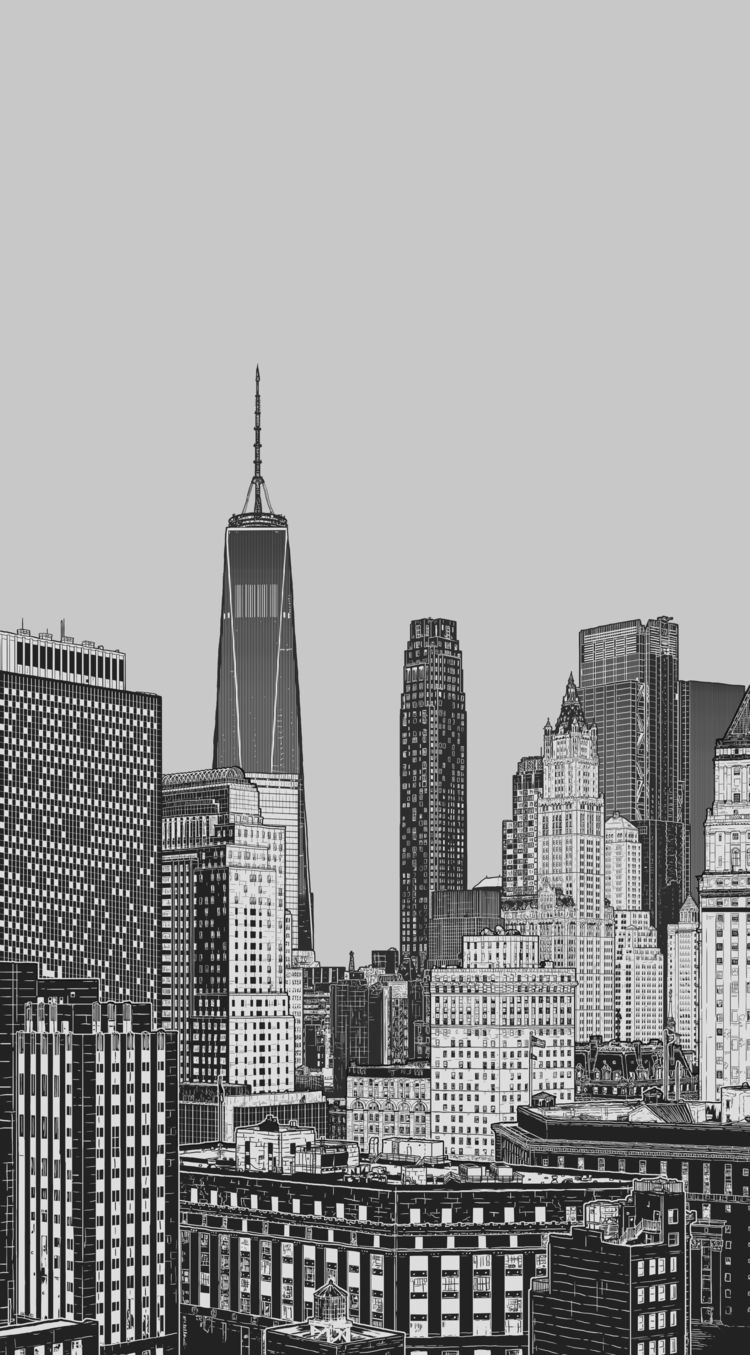 NYC skyline Spider-verse Illust - justblack | ello