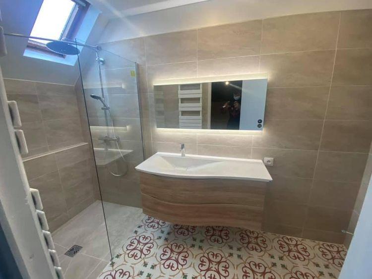 Rénovation salle de bain avant - spbatiment | ello