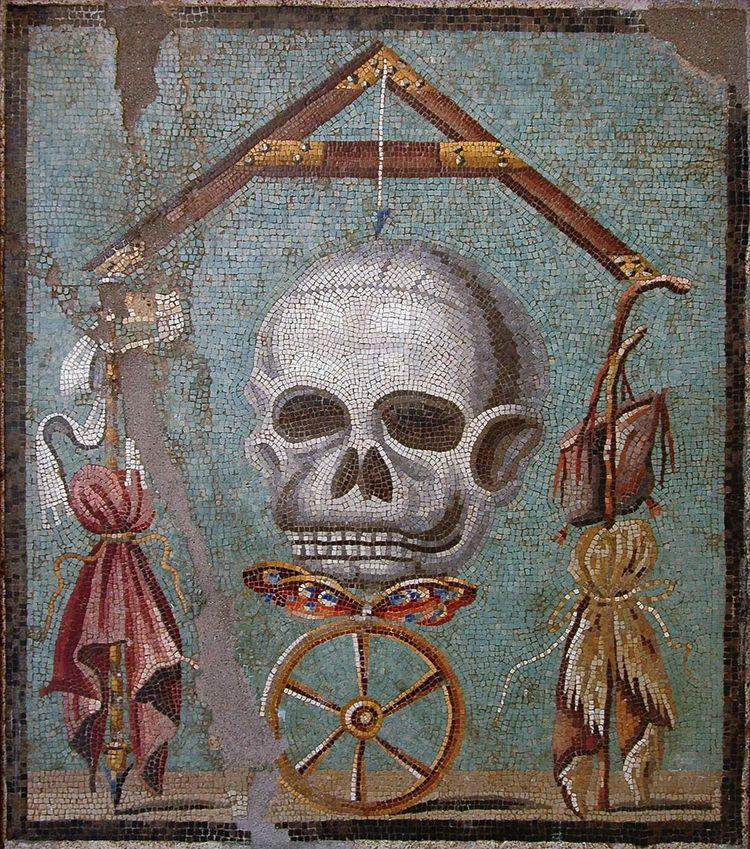 Mosaic, skull wheel fortune (me - arthurboehm | ello