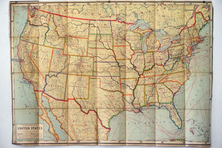 Vintage historic map America Ra - danielkrieger   ello