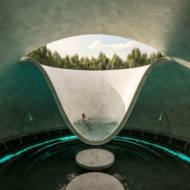 Tear Joy - architecture, pool, nature - paulearly | ello