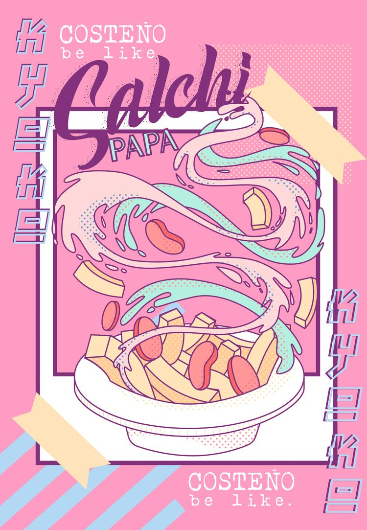 design, lettering, food, color - kyoko1 | ello