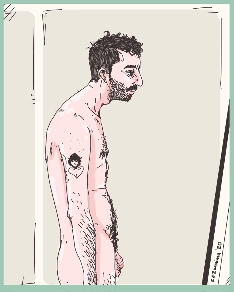 portrait staring mirror - zeroanima | ello