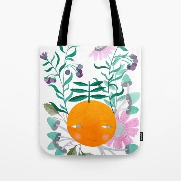 tote bags Society 6 shop, Autum - pinknounou | ello