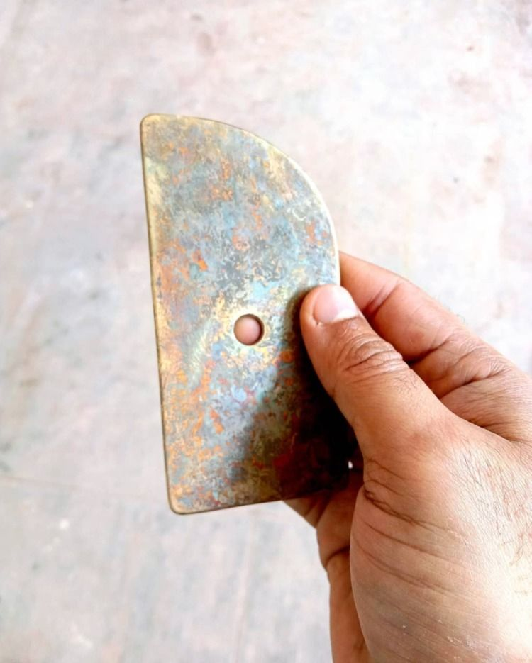 brass pottery rib aging gracefu - pritpalbharaj | ello