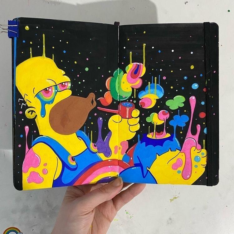 Latest sketchbook entry.. Homer - ms_wearer | ello