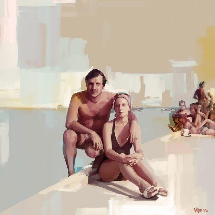 VINTAGE / Ritratto di donna Tra - itemlab_designstudio | ello