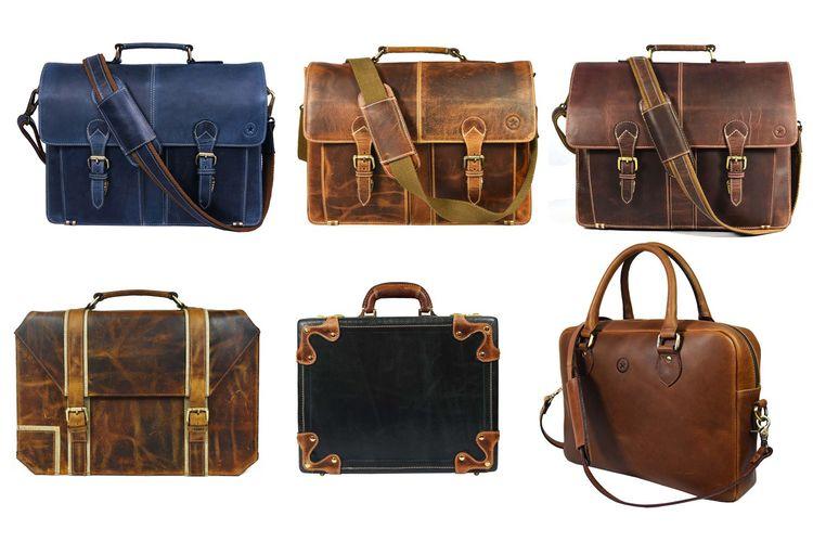 Handmade Leather Bags - Office  - aaronleathergoods | ello