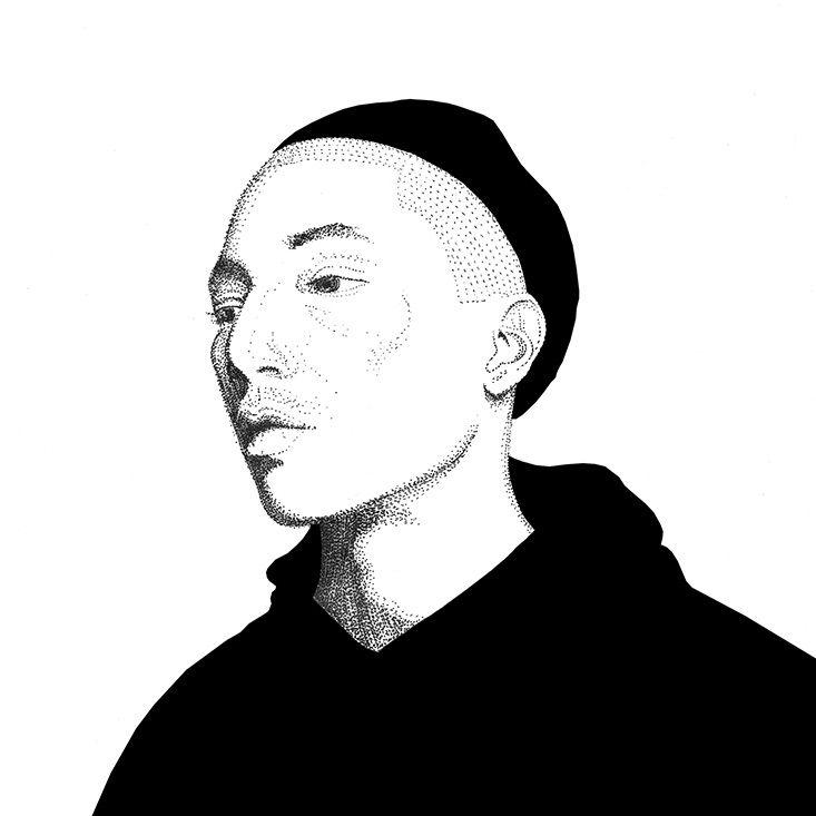 Pharrell Williams - illustration - herre84 | ello