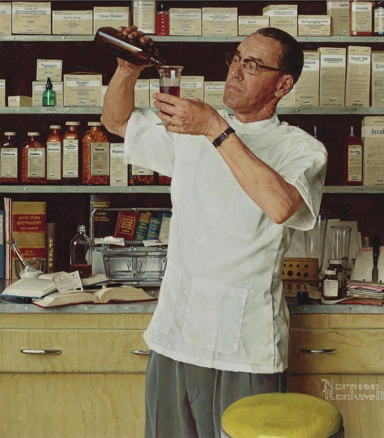 Norman Rockwell: Pharmacist, 19 - arthurboehm | ello