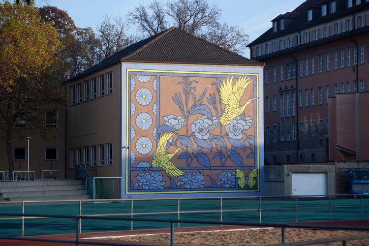 shot mural painted - graffiti, illustration - sidas_ate | ello