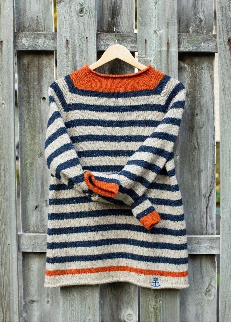 Nautical sweater - knit, nautical - zolychka   ello