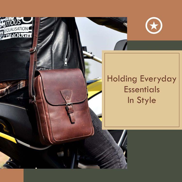 Leather Messenger Bags Holding  - aaronleathergoods | ello