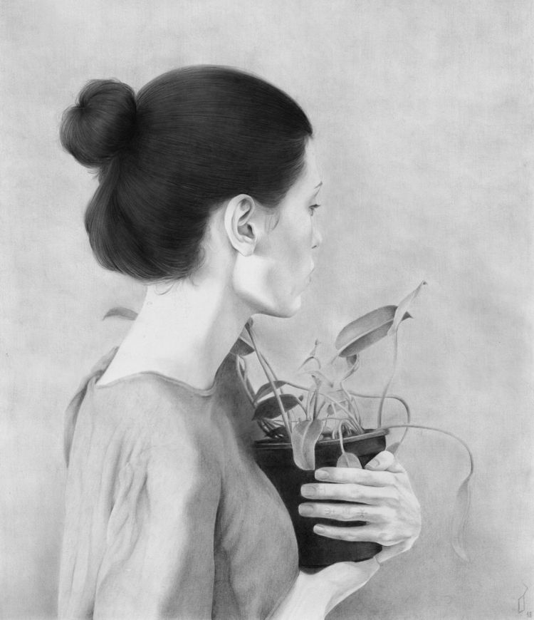 Portrait Plant, 2018 Graphite p - luciesalgado | ello