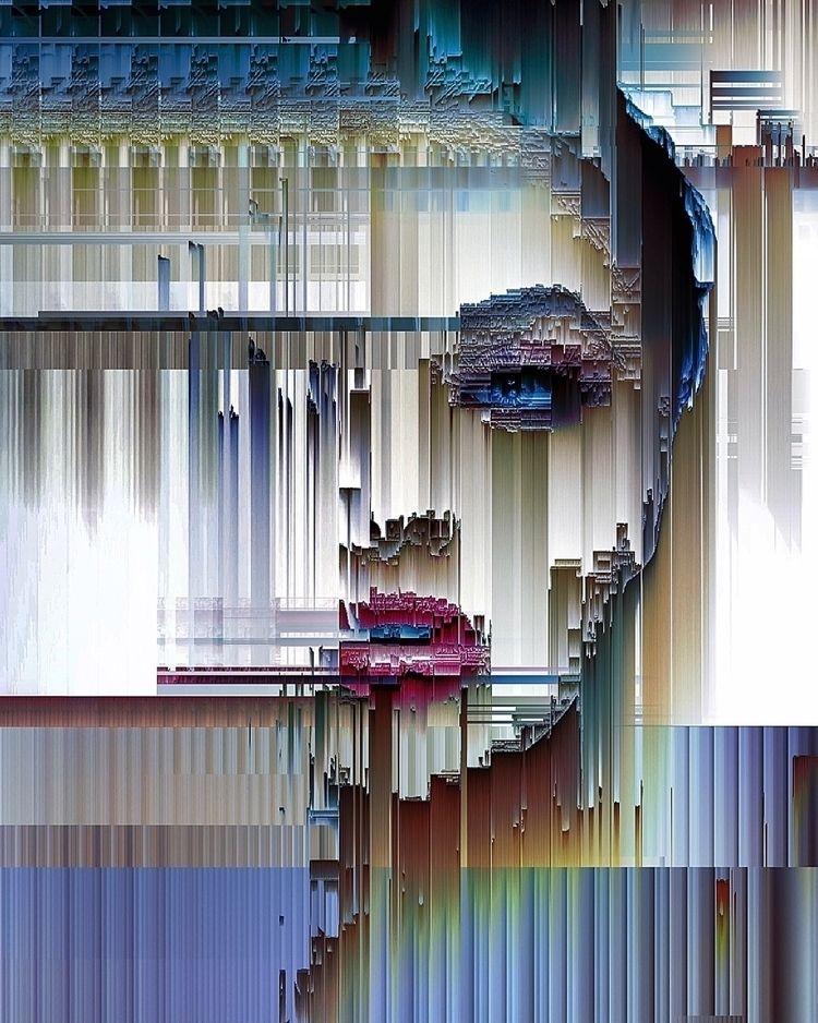 𖦒 artefact  - glitch, glitchart - ikatch | ello