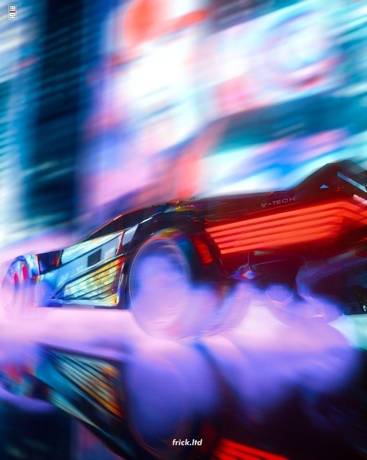 Neon Drift - cinem4d, 3dart, Cyberpunk - frickltd | ello