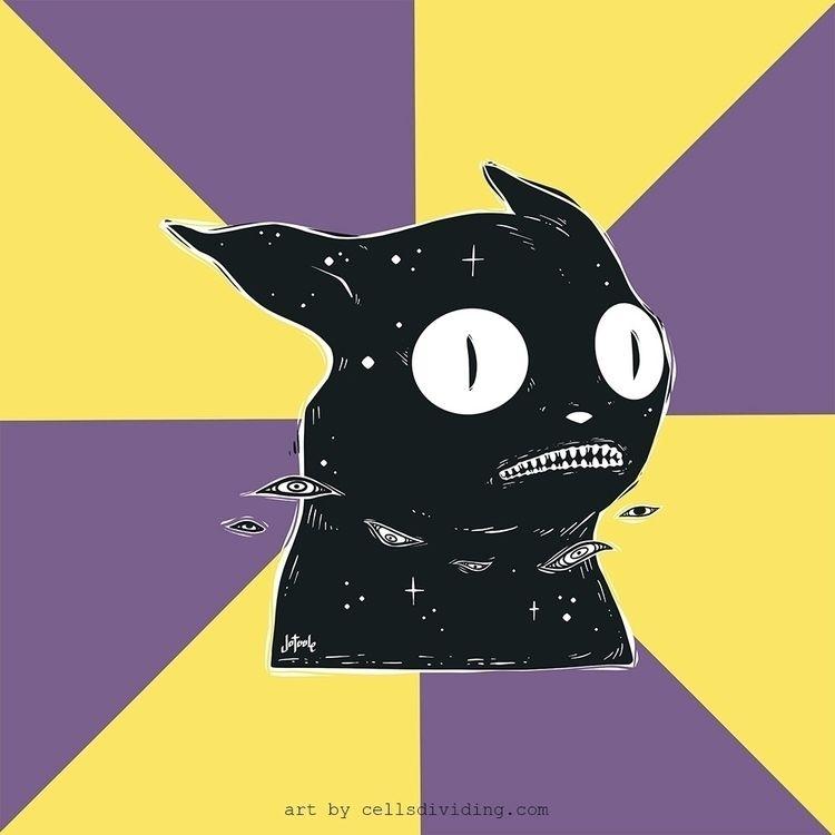 Draws anxiety cat meme... likes - cellsdividing | ello