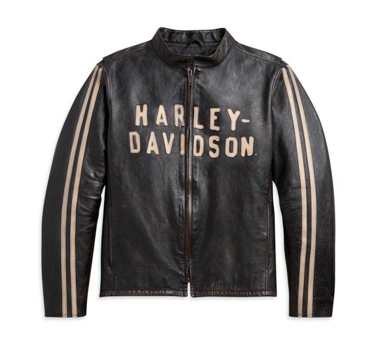 Sleeve Stripe Leather Jacket -  - mrstyless   ello