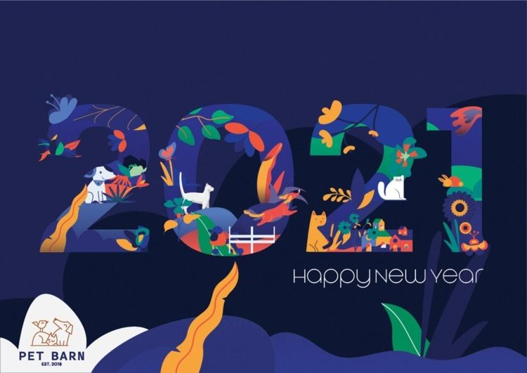 Happy Year card illustration Pe - nancykouta   ello