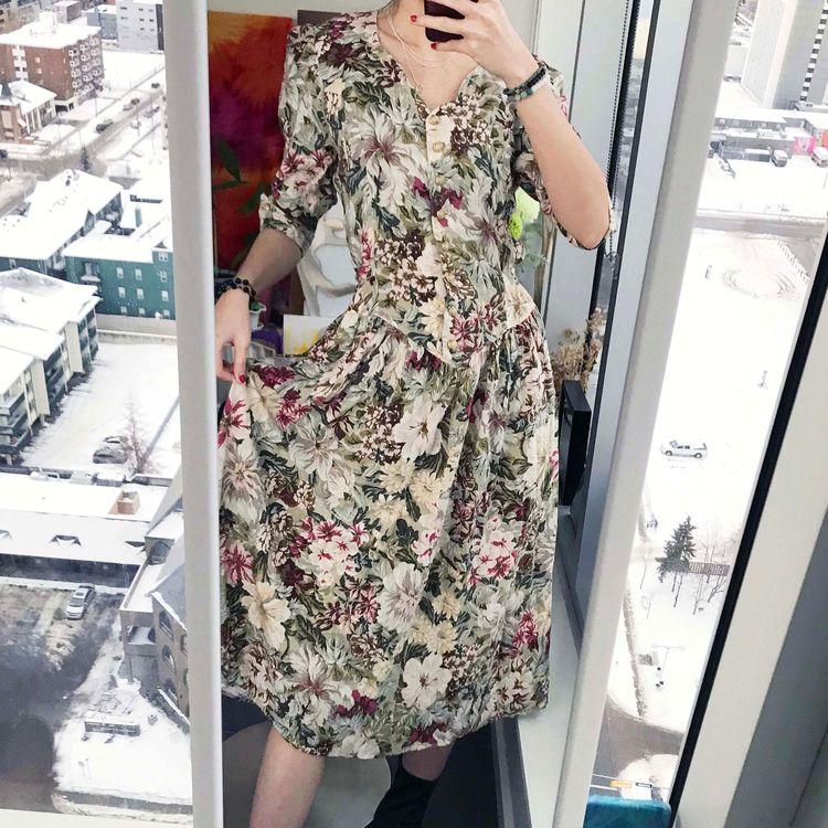 Vintage 90s floral dress - wenyyc | ello