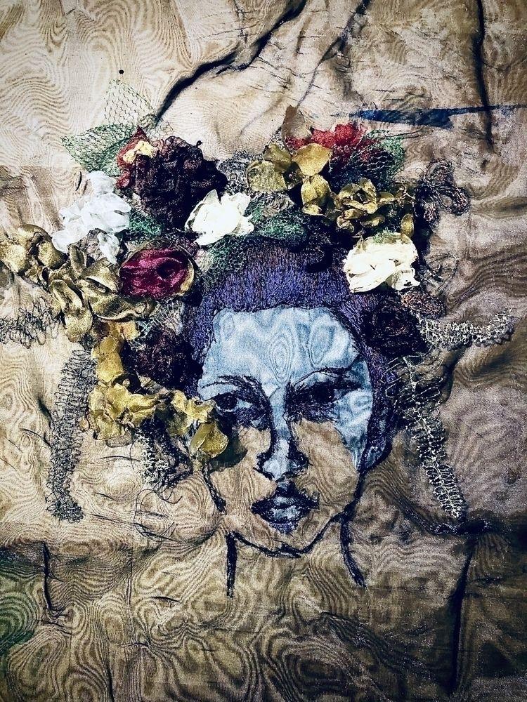 fabricart, textileart, sewnportrait - indivisibleby3   ello